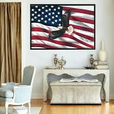 flag wall art flag wall art poster large size united states eagle flag modern home decor flag wall art