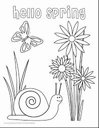Cool Delighted Printable Spring Coloring Pages Kindergarten Gallery
