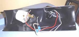 water temp gauge back side of the autometer a pillar dual gauge pod