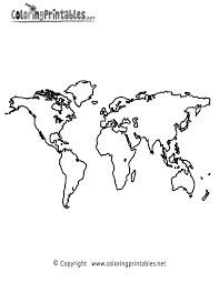 World Map Coloring Page A Free Travel Coloring Printable