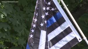 Family's 'Thin <b>Blue Line</b>' American flag sparks controversy after ...