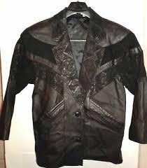 Preston York Black Leather Womens Coat Genuine Pig Skin L