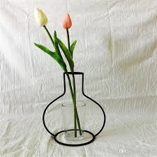 practical stand iron vase for wedding party table centerpieces decorations diy flower pot without glass jardiniere rack easy carry 10ld cc decorative glass