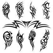 Tisk Plakátuobrazufototapety Tribal Tetování Print Pixeu