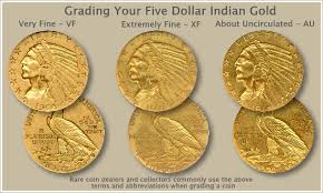 Indian Five Dollar Gold Coin Grading A Trail Of Money