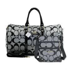 Coach Bleecker Monogram In Signature Large Grey Luggage Bags AFM+Grey Crossbody  Bags DPZ