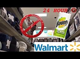best hour walmart challenge in toilet paper fort  best 24 hour walmart challenge in toilet paper fort