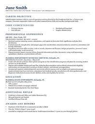 ... Sample Resume Objectives 10 Classic 2.0 Dark Blue ...