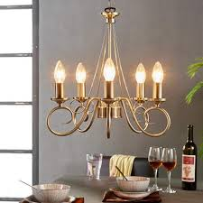 marnia chandelier in antique brass 5 bulb