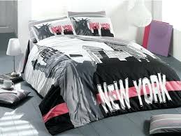 new york city bedding single twin quilt duvet cover set linens skyline