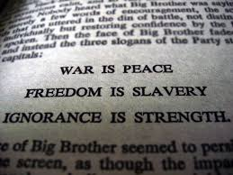 the meaning of war is peace dom is slavery ignorance is the meaning of war is peace dom is slavery ignorance is strength