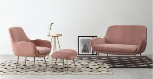 an accent chair in vintage pink velvet