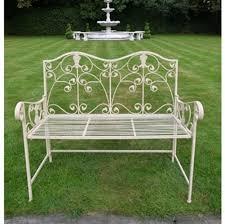shabby chic outdoor furniture. Cream Garden Bench Shabby Chic Outdoor Furniture T