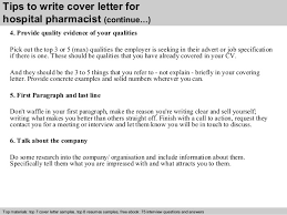 hospital pharmacist cover letter      tips to write cover letter for hospital pharmacist