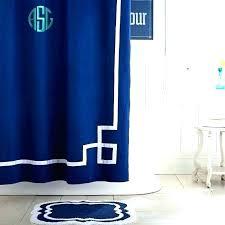 monogram shower curtains blue curtain hooks rose matouk monogrammed