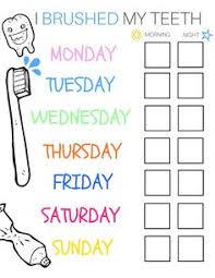 20 Best Printable Brushing Charts For Kids Images Charts