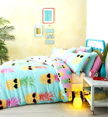 beach style duvet covers bedding teenage funky pineapple bright tropical theme summer cover blue bed sheets set
