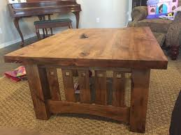 knotty alder coffee table
