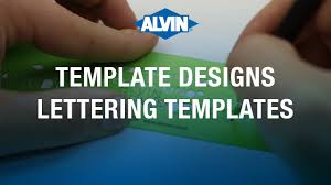 Lettering Templates Alvin Lettering Templates