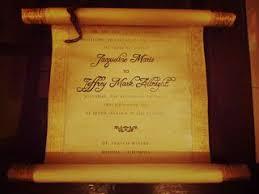 Vintage Scroll Wedding Invitation 12 Steps