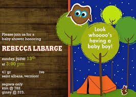Lumberjack Baby Shower Invitation Camping Baby ShowerCamping Themed Baby Shower Invitations