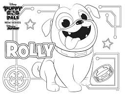 Cozy Rolly From Puppy Dog Pals Coloring Pages Free Printable
