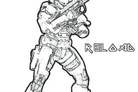 Halo Spartan Coloring Pages Smithfarmspacom