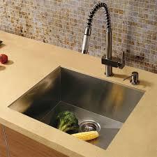 vigo platinum collection square undermount stainless steel kitchen sink faucet and dispenser
