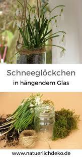 Hänge Glas Mit Schneeglöckchen Osterdeko Frühling Deko Fenster