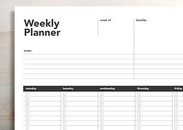 Weekly Planner Online Printable Printable Weekly Planner Weekly Agenda Planner Printable To Do List 5 Day Week Weekly Action Plan Student Agenda Weekly To Do List