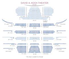 Lincoln Center David Koch Theater Seating Chart Best