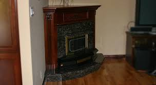 tan brown granite fireplace hearth surround