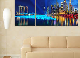 paintings for office walls. 3 Piece Canvas Wall Art Landscape Paintings Modern Office For Walls