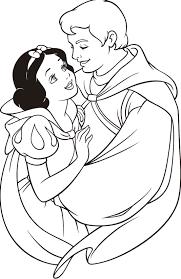 Snow Prince Charming Disney 白雪姫 ぬり絵色ぬりディズニー