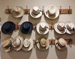 homemade hat rack