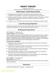 Mortgage Loan Officer Resume Fresh Luxury Mortgage Loan Ficer Resume