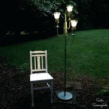 outdoor lights furniture portable lighting powered b and q post