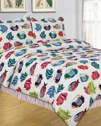 Patterned Tropical Fish Comforter Set & Colorful Patterned Tropical Fish Comforter Set Adamdwight.com