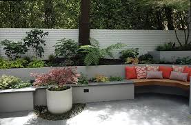 Stucco Retaining Wall Design Modern San Francisco Landscape Transformation Dig Your
