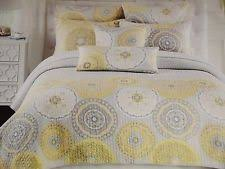 6 PC New Cynthia Rowley Queen Paisley Floral Comforter Set Aqua ... & CYNTHIA ROWLEY Medallion Circle Scroll YELLOW GREY 3pc FULL QUEEN QUILT SET Adamdwight.com