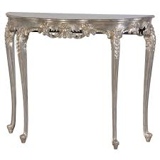 half moon console table. PRE ORDER: French Half Moon Console Table - Silver C