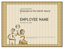 Employee Of The Month Certificate Templates Free Employee Of The Month Template For Employee Recognition In