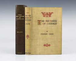 red badge of courage stephen crane first edition civil war novel the red badge of courage