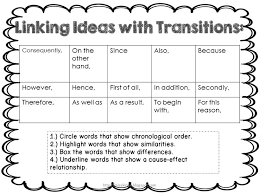 best list of transition words ideas list of  list of transition words for 5th grade writing google search