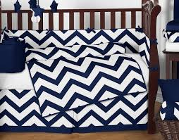 navy and white chevron zigzag baby bedding 9pc crib set by sweet jojo designs only 189 99