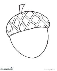 Approved Acorn Coloring Pages Page Nature 43072