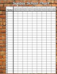 Printable Attendance Charts For Bible Class Sunday School Attendance Sheet Template Xtech Me