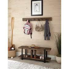 Reclaimed Wood Wall Coat Rack Alaterre Modesto Metal and Reclaimed Wood 100inch Storage Coat Hook 50