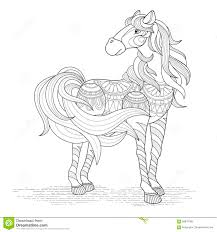 Printable Coloring Pages horse coloring pages to print for free : Lovely Horse Coloring Page Stock Vector - Image: 58878789