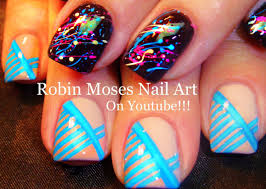 Fun Nails! 2 Diy Nail Art Tutorials | Splatter Paint & Stripes ...
